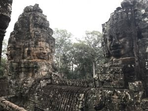 Pilates Retreat Temple of Bayon at Angkor Wat