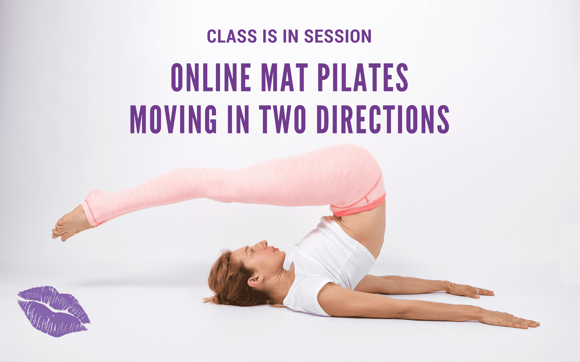 Lesley Logan Pilates mat Classes two directions