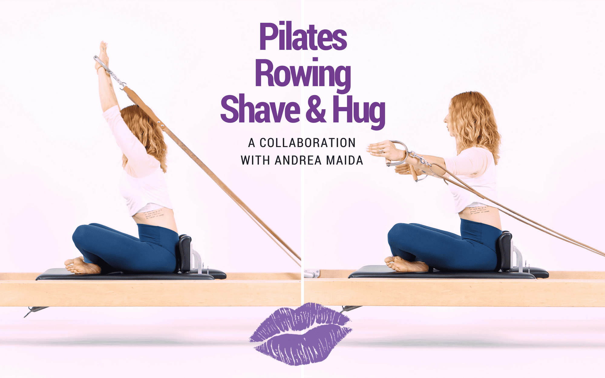 Lesley Logan Pilates Rowing Shave Hug Youtube