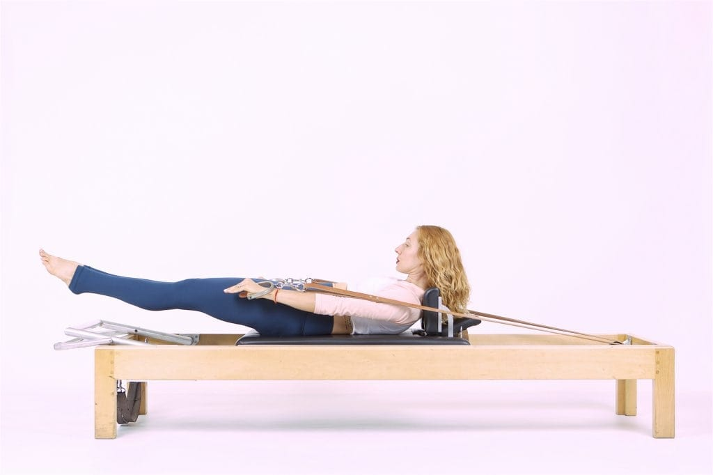 Pilates Hundred on the Reformer
