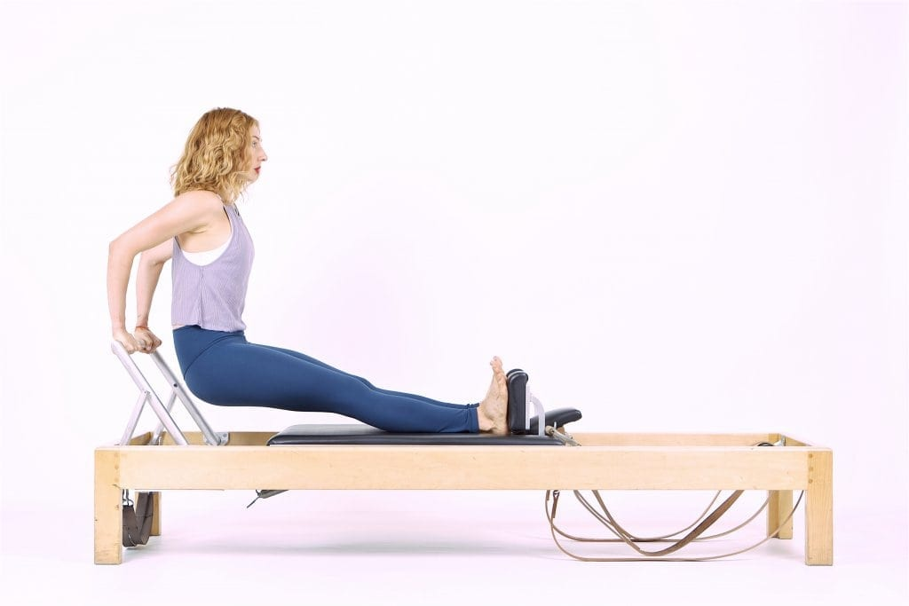 PIlates Long Back Stretch on the Reformer