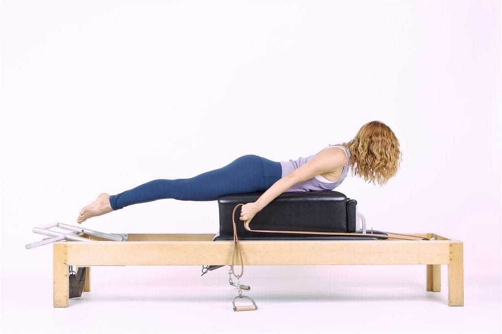 Pilates Pull Straps on the Reformer