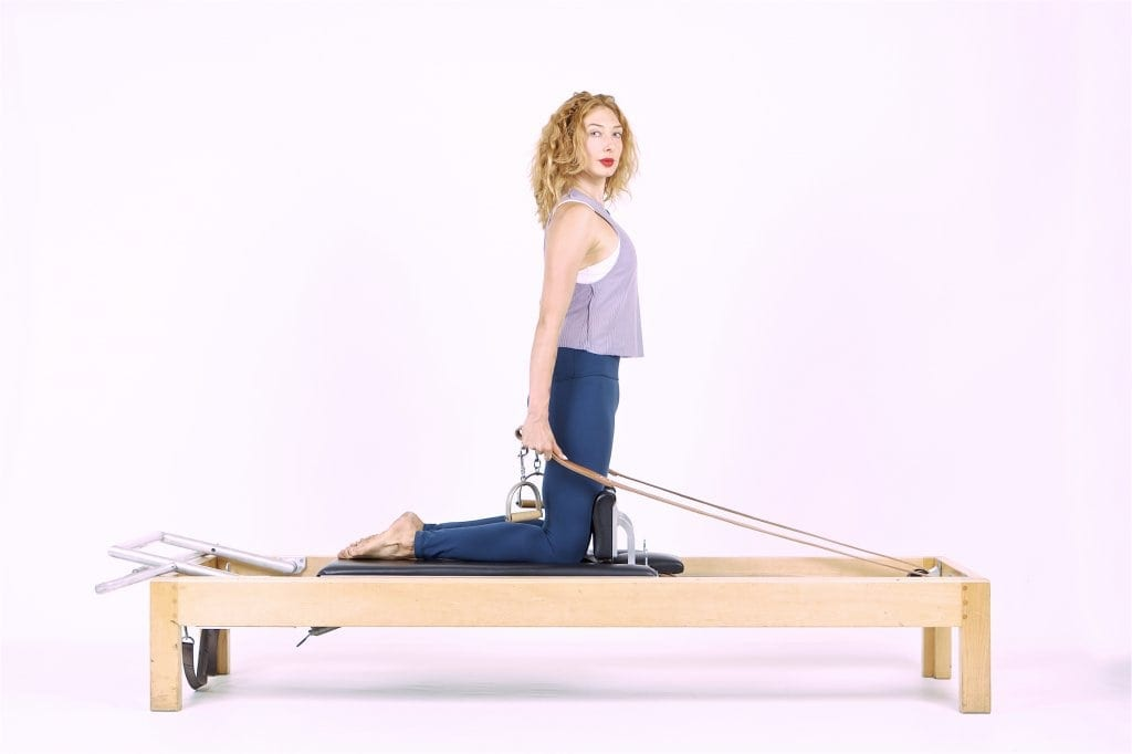 Thigh Stretch on the Reformer