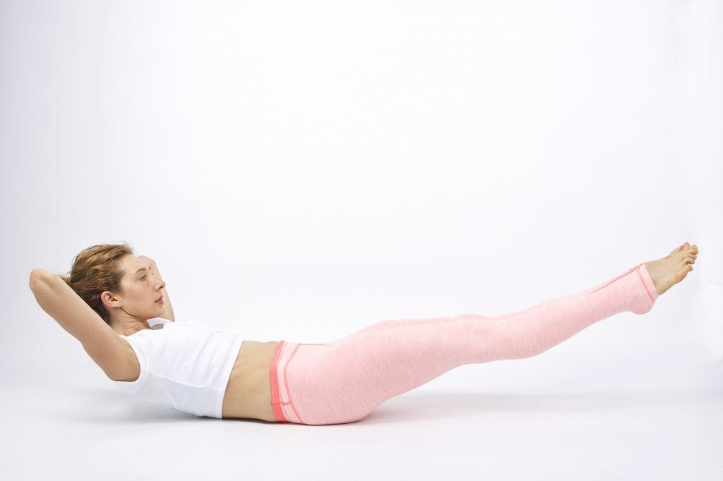 Pilates Double Straight Leg Stretch on the Mat