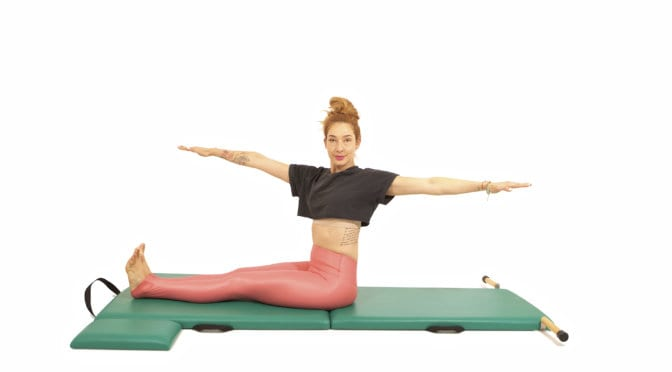 Pilates Spine Twist on Mat | Online Pilates Classes
