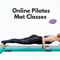 Online Pilates Mat Classes Lesley Logan Pushups Black
