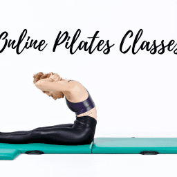 Online Mat Pilates Classes Lesley Logan Neck Pull Black OPC