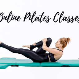 Online Mat Pilates Classes Lesley Logan Single Leg Stretch Black OPC