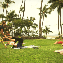 Pilates Retreat Maui - Lesley Logan & Arlene Salomon 2018 - Day 1 Mat Class 1 - PilatesRetreatMaui.com filtered