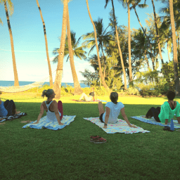 Pilates Retreat Maui - Lesley Logan & Arlene Salomon 2018 - Day 3 Mat Class 1 - PilatesRetreatMaui.com filtered