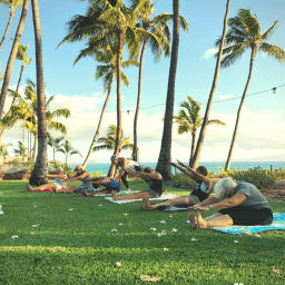 Pilates Retreat Maui - Lesley Logan & Arlene Salomon 2018 - Day 3 Mat Class 2 - PilatesRetreatMaui.com filtered