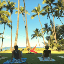 Pilates Retreat Maui - Lesley Logan & Arlene Salomon 2018 - Day 4 Mat Class 1 - PilatesRetreatMaui.com filtered