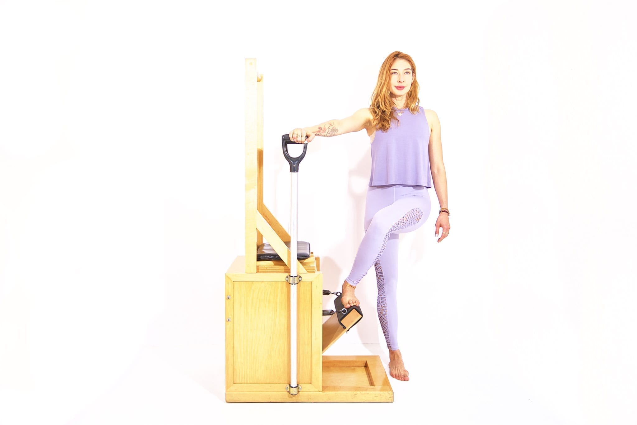 Press Down Cross Over on the High Chair | Online Pilates Classes
