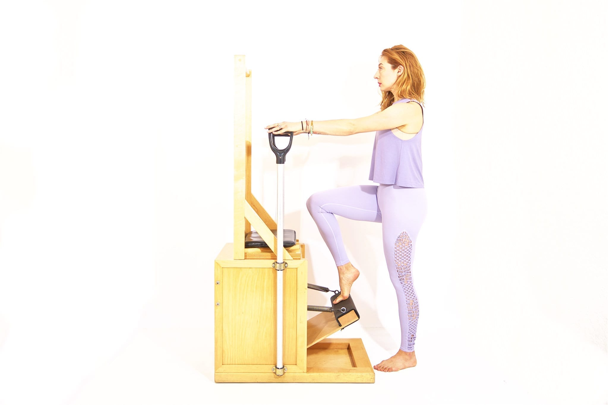 Press Down Front on the High Chair | Online Pilates Classes