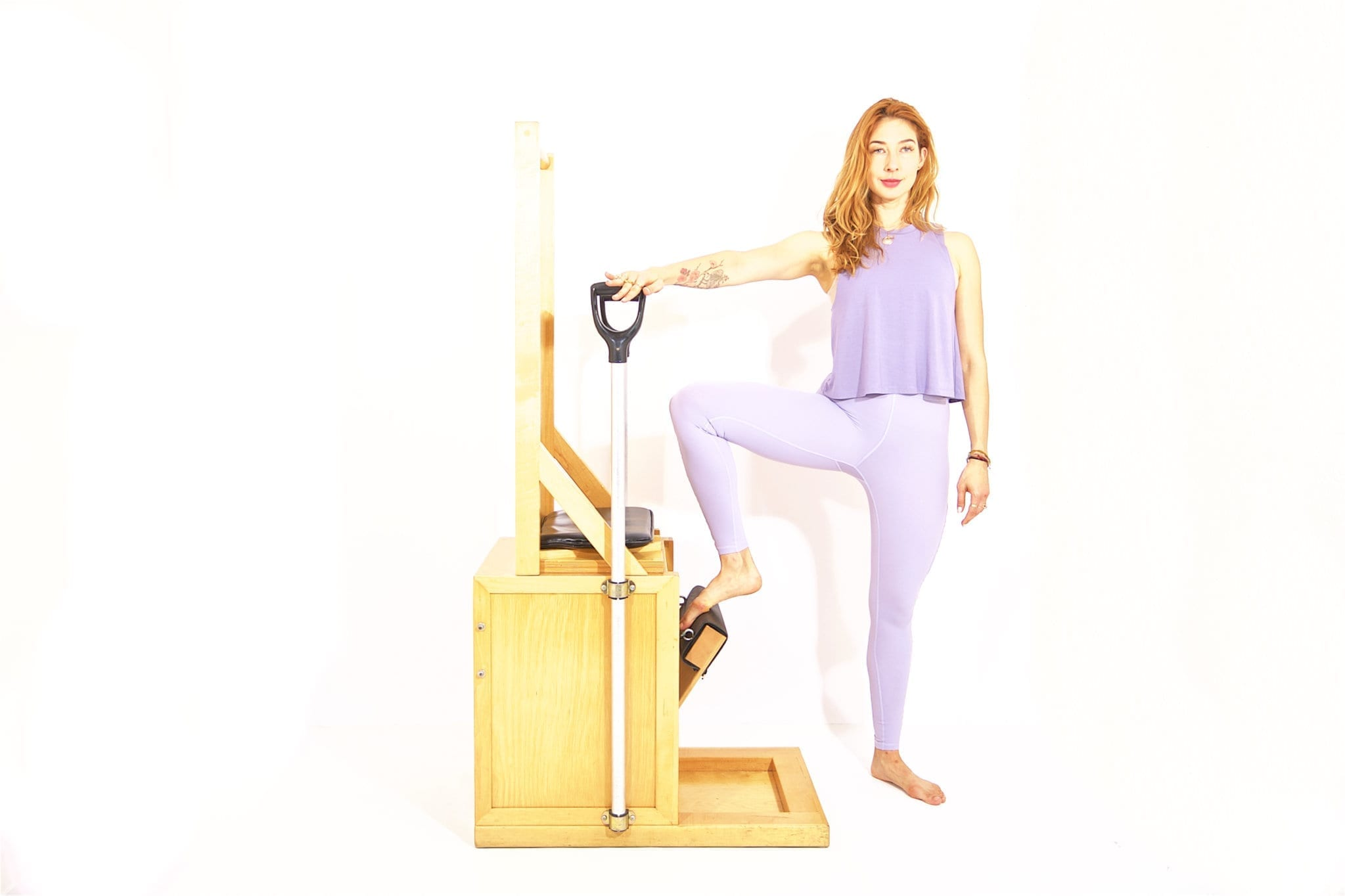 Press Down Side on the High Chair | Online Pilates Classes