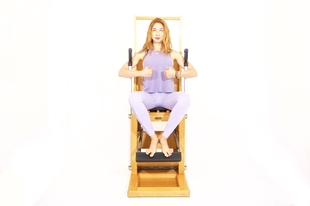 Pumping on the High Chair | Online Pilates Classes