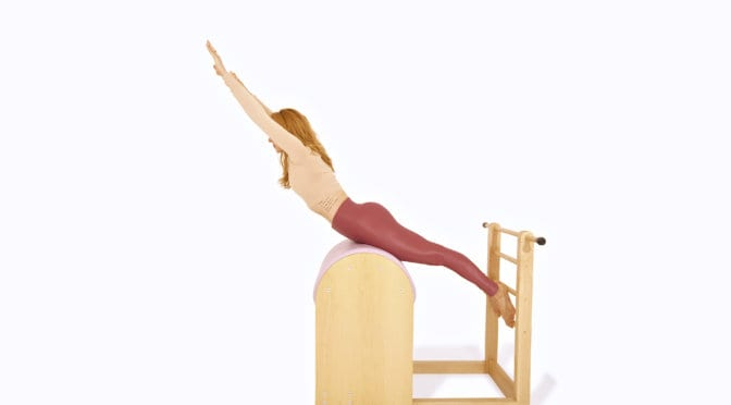 Swan on the Ladder Barrel | Online Pilates Classes
