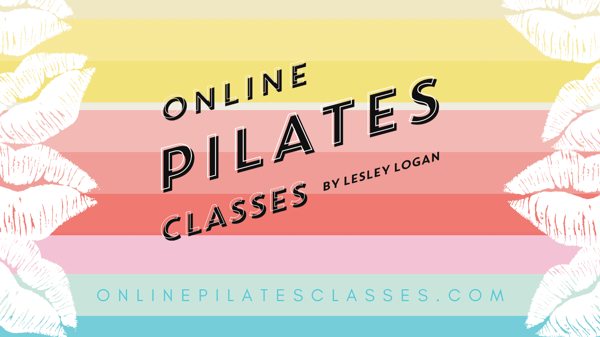 Online Pilates Classes Lips Logo Wallpaper v3