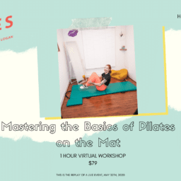 Mastering the Basics of Pilates on the Mat - Replay fb